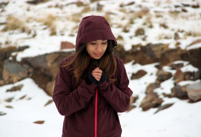 Erzurum karla beyaza büründü