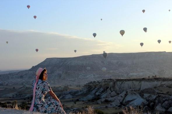 Kapadokya'da sonbahar objektiflere yansıdı