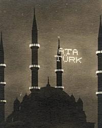 Camilere Atatürk ve İnönü mahyaları