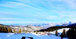 Karadeniz yaylarının karla muhteşem buluşması