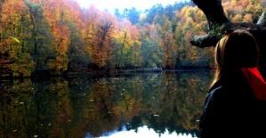 Yedigöller'den büyüleyici sonbahar manzarası fotoğrafları
