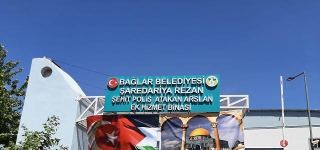 Bağlar Belediyesinden Filistin halkına bayraklı destek