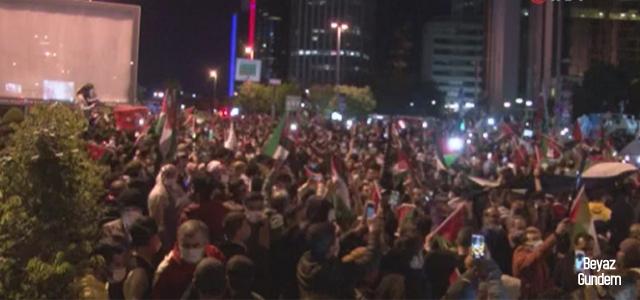 İsrail Konsolosluğu önündeki protestolar sürüyor