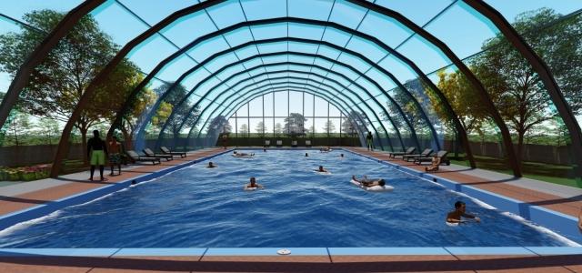 Mamak'ta 4 noktaya portatif yüzme havuzu