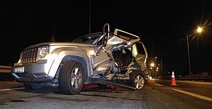 Bursa'da otoyolda feci kaza, 2 yaralı