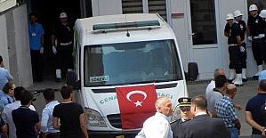 Edremit'te şehidin cenazesi hastane morgundan alındı