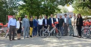 Bisikletle sağlığa ÇOMÜ de destek veriyor