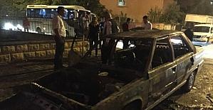 Adana'da araç yangını