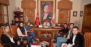 AK gençlerden Başkan Yağcı'ya ziyaret