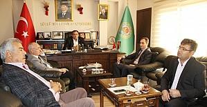 Aksaray'da defterdar ve vergi dairesi müdüründen ziyaretler