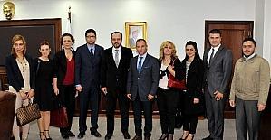 Aydın Barosu'ndan ADÜ Rektörü Bircan'a ziyaret