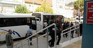 Aydın'da 22 FETÖ şüphelisi adliyeye sevk edildi