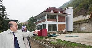 Başkan Gümrükçüoğlu uyuşturucu ile mücadele merkezi inşaatını denetledi