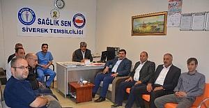 Başkan İlhan Çelik'ten sendikalara teşekkür ziyareti