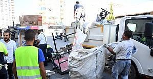 Büyükşehir Belediyesi zabıta ekiplerinden kağıt toplayıcılarına operasyon