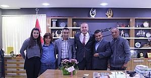 Engellilerden Başkan Şahiner'e ziyaret
