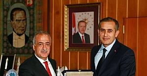 ERATÜN Başkanı Şener'den Rektör Çomaklı'ya ziyaret