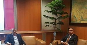 İSKİ'ye atanan Turan'a Başkan Toçoğlun'dan ziyaret