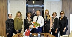 Kadın Girişimciler Başkan Uysal'a ziyaret