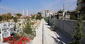 Kazalpa Mezarlığında çevre düzenleme çalışmaları tamamlandı