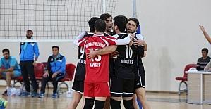 Melikgazi Belediyespor, 68 Aksaray Belediyespor'a set vermedi
