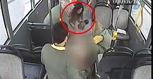 (Özel haber) Otobüste doğum kamerada