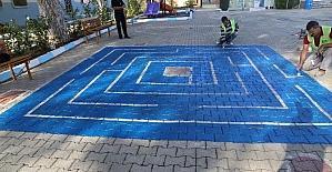 Turgutlu Belediyesi okul bahçelerini renklendirdi