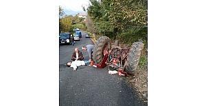 Zonguldak'ta traktör kazası: 1 yaralı