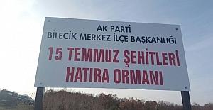 AK Parti'den 15 Temmuz Şehitleri Hatıra Ormanı
