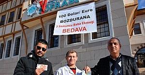 Aksaray'da dolar bozdurma çağrısına destekler sürüyor