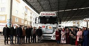 Aksaray'dan Halep'e yardım TIR'ı gönderildi