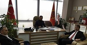 Başkan Alemdar, İtfaiye Başkanı Arancı'ya hayırlı olsun ziyaretinde bulundu