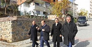 Başkan Köşker Mimar Sinan mahallesinde inceleme yaptı