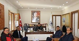 Başkan Yalçın'a ziyaretler