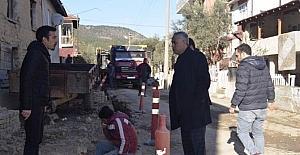 Bayırköy Beldesi'nde doğalgaz çalışmaları