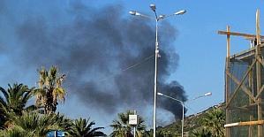 Çeşme'de makilik alanda yangın tedirginliği