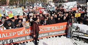 Erzurumlular Halep için yürüdü