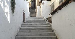 Hacıhızır'da merdiven yapıldı