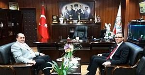 Kaymakam Çağlar'dan Demirtaş'a veda ziyareti
