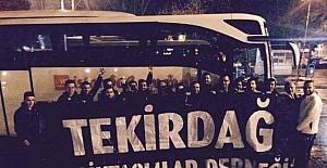 Kiev maçına Tekirdağ'dan destek