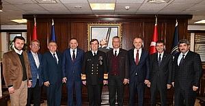 KOTO Başkanları Doğan ve Barış, Donanma Komutanlığını ziyaret etti