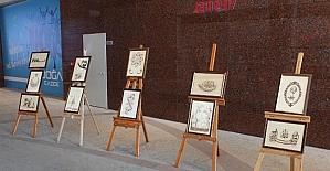 Malatya Doğa Cadde Alışveriş Merkezinde Ahşap Yakma Sanat sergisi açıldı