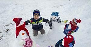 Ovacık'ın en renkli kardan çocukları