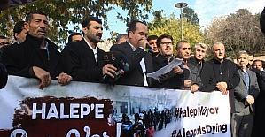 Şanlıurfa'da STK'lar Halep'te yaşanan insanlık dramına dikkat çekti