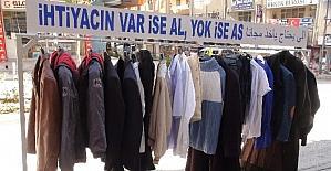 Yozgat'ta 'İhtiyacın varsa al yoksa as' kampanyası yoğun ilgi görüyor