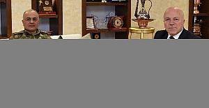 9. Kolordu Komutanı Tümgeneral Özoğlu, Başkan Sekmen'i ziyaret etti