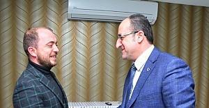 Ak Parti Bilecik İl Başkanı Karabıyık'dan Eskişehir İl Başkanı Ünlü'ye ziyaret