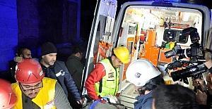 Antalyada çöken inşaatta kurtarma...