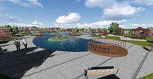 Arifiye'de yapılan Kuğulu Park inşaatı devam ediyor