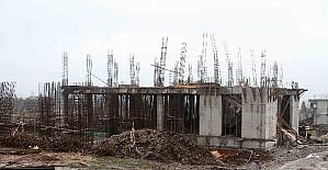 Arslanbey'de kültür merkezi inşaatı devam ediyor